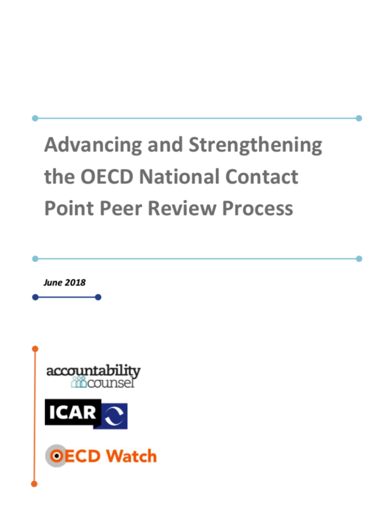 publication cover - Advancing and Strengthening the NCP peer review process