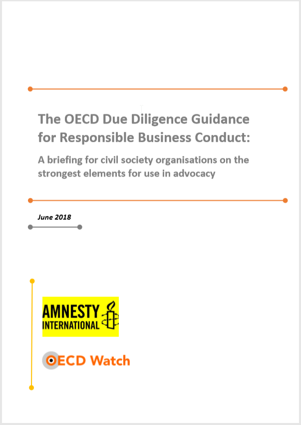 publication cover - The OECD Due Diligence Guidance for Responsible Business Conduct